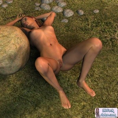 3d animation pink cum-hole outdoors