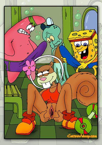 Sponge bob and his collaborators decide to fuckfest sandy