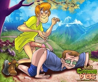 Scoobydoo studs enjoying clammy gay guy sex
