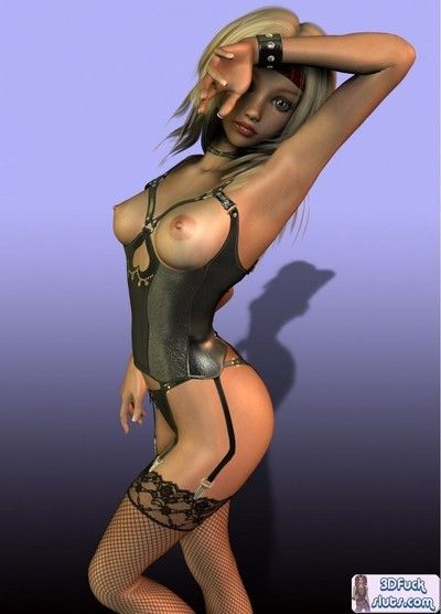 3d caricature in sexy lingerie