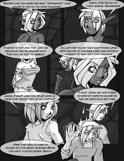 Vindictive Night Elfs hard fucks young blonde in all holes - Release Comics