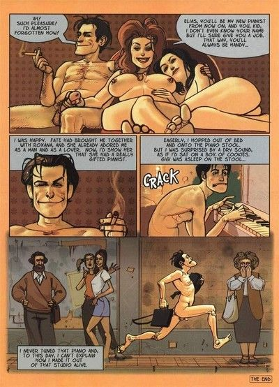Sticky grandpa comics with appealing babe swallowing dick