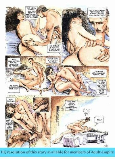 Gals sharing ramrod in the hottest sex comics