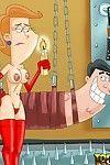 Sticky fetish animated film characteres everywhere