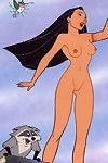 Pocahontas porn caricatures
