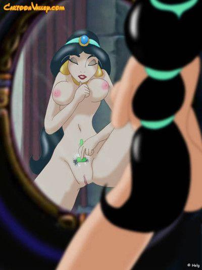 The spiteful jaffar takes jasmine roughly