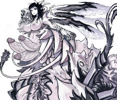 Anime unnatural girls monsters