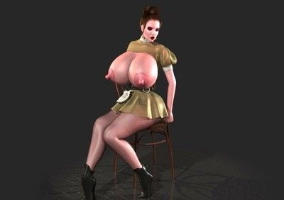 Large breasted 3d toon shows front bumpers and puffy twat