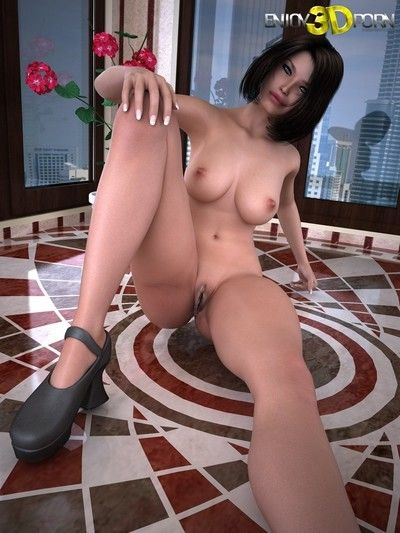 Surprising hot brunette spreads her legs