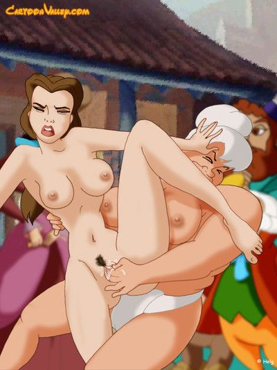 Ariel and jasmine fight naked and bawdy