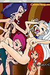 The winx dears have acceded to throw a one of a form gathering with sexiest disguise