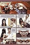 Chunky dude drills dual moist ladies in porn comics