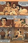 Damp full-grown comics with hot hotty taking in stick