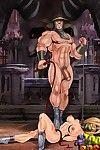 Unlucky cartoon dom accepts trampled by slavegirl