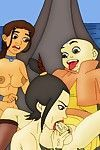 Avatar aang with girlfriends