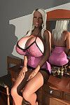 Hawt 3d fairy-haired hottie exposing her heavy boobs