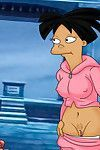Fry and amy from futurama enjoy a steamy fuck