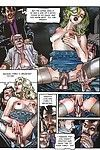 Porno comix with blonde on stick