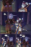Night Elf makes love sticky Draenei in XXX Comics
