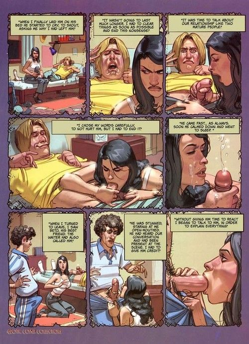 Hot matured comics with low-spirited babe sucking dick