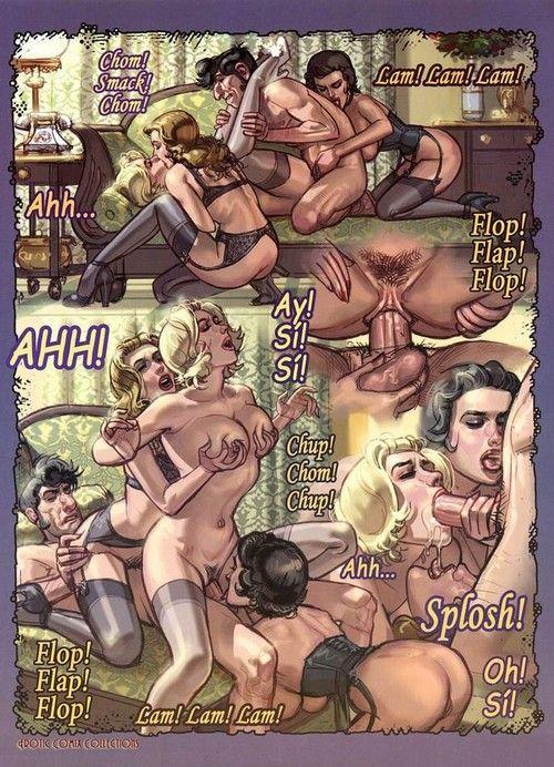 Hot matured comics with low-spirited babe sucking dick