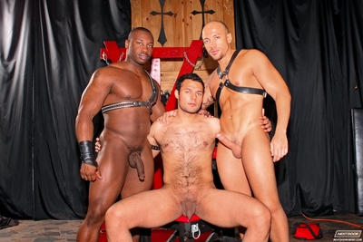 Marc Williams and Jordano Santoro have come together to give a man named AJ exactly what he deserves. A cock-craving slut like AJ loves to be bound and dealt with harshly, so Marc and Jordano are pulling out their razors and shaving AJ