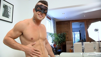 Guy next door Tony ended up being a lot more exhibitionist than expected. He showed up really horny and made sure I noticed his incredible shape. He wanted to wear the mask because it looked cool on him, not to hide his identity. He