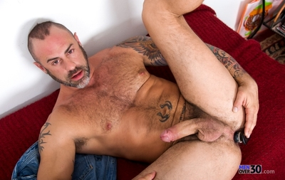 CJ Madison is a man over 30 -- masculine, tattooed, bearded and hairy-chested that will get your imagination going in no time. This hot solo starts off with CJ slowly stripping and jerking for your eyes and his strip tease will not leave you hanging as th