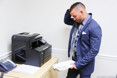 Fernando is trying to plow up his way up the corporate ladder at his fresh job but all they have him doing is making copies after copies and larger in number copies of all kinds of different paperwork. He