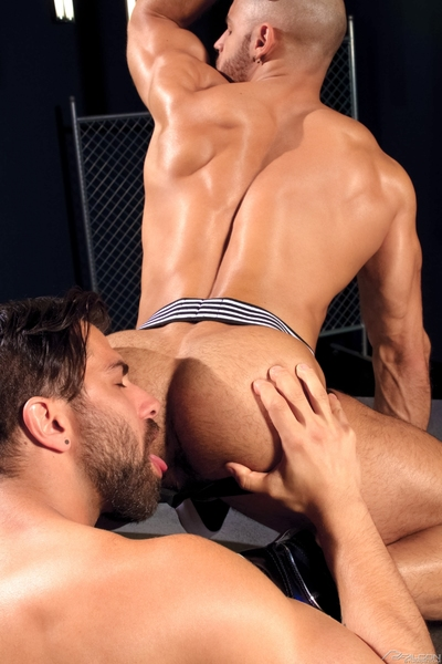 Sean Zevran is a cute exemplar of man, sexy face, sculpted, wavy and musclebound with an fantastic 8-inch shlong and ass for days. Adam Ramzi delivers fashion case looks with a lean, toned body, fine ass and sizable cock.  After they each put themselv
