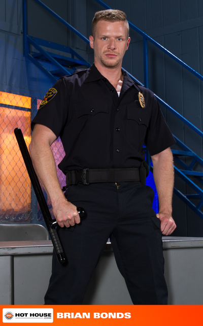 While on the late-night shift, horned up officers Johnny V and Brian Bonds take some down time to look at some porn on the job. As Officer Johnny establishes to stroke his cock, Office Bonds takes see and wraps his warm chop around Johnny