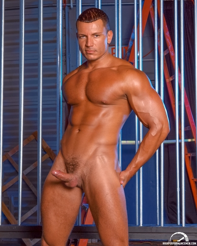 High Performance Men is delighted to bring both two powerhouse men Angelo Marconi and Fabio Stallone in WAREHOUSE FUCK.  Angelo and Fabio instigate with giving a kiss and groping each other until there heavy schlongs cant be restrained by their jock-strap