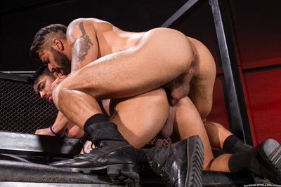 Bruno Bernal looks up at Adam Ramzi with a primal urge. They make out as Bruno tugs on Adam