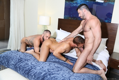 These hawt muscular men started the day out on the town and brought JR ago for some moist 3 class pounding. Marcus and Billy were on the lookout all day and when they saw JR they knew he was the right man to bring ago to the hotel and have a full on fuc