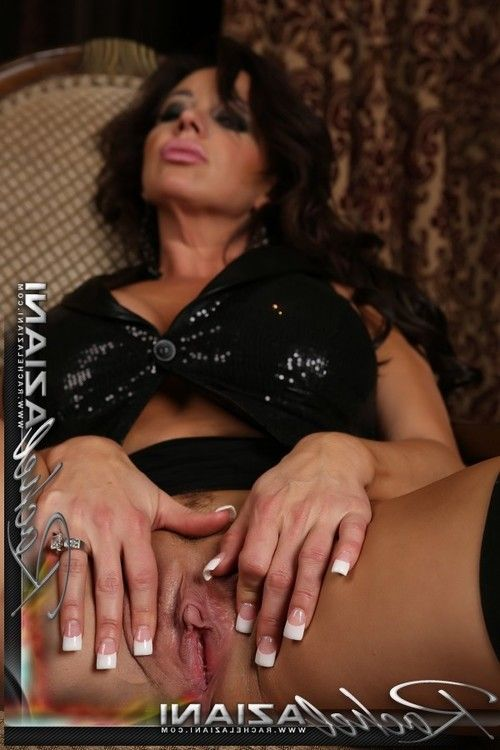 Lots of thigh highs, heels and black penis stimulator play with the hawt Rachel Aziani.