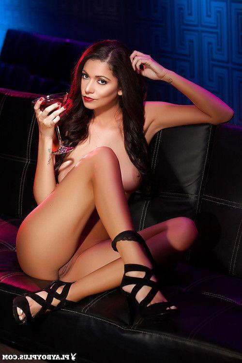 Brunette babe Ali Rose posing topless for wild glamour photos