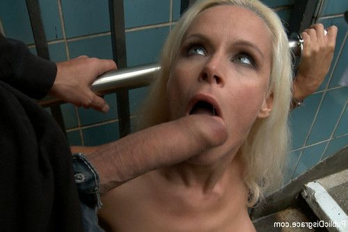 Beautiful german blond milf bound and owned in public
