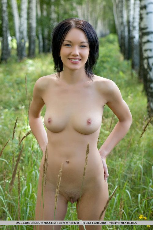 Sexy dress clothes Euro Loreen A spreading legs to show vagina in the forest