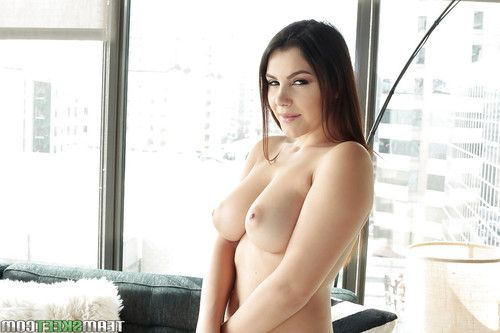 First time PAWG Valentina Nappi exposing vast tits while undressing