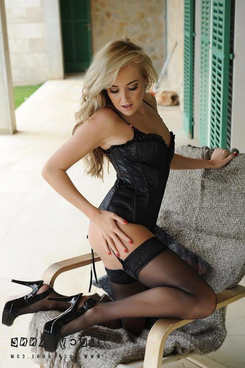 Black Lingerie, Stockings Corset