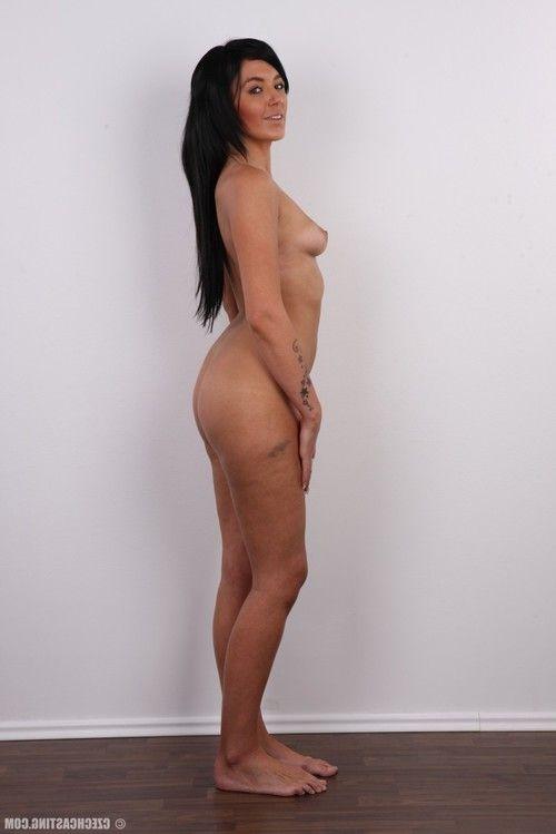 Gorgeous brunette gets undressed
