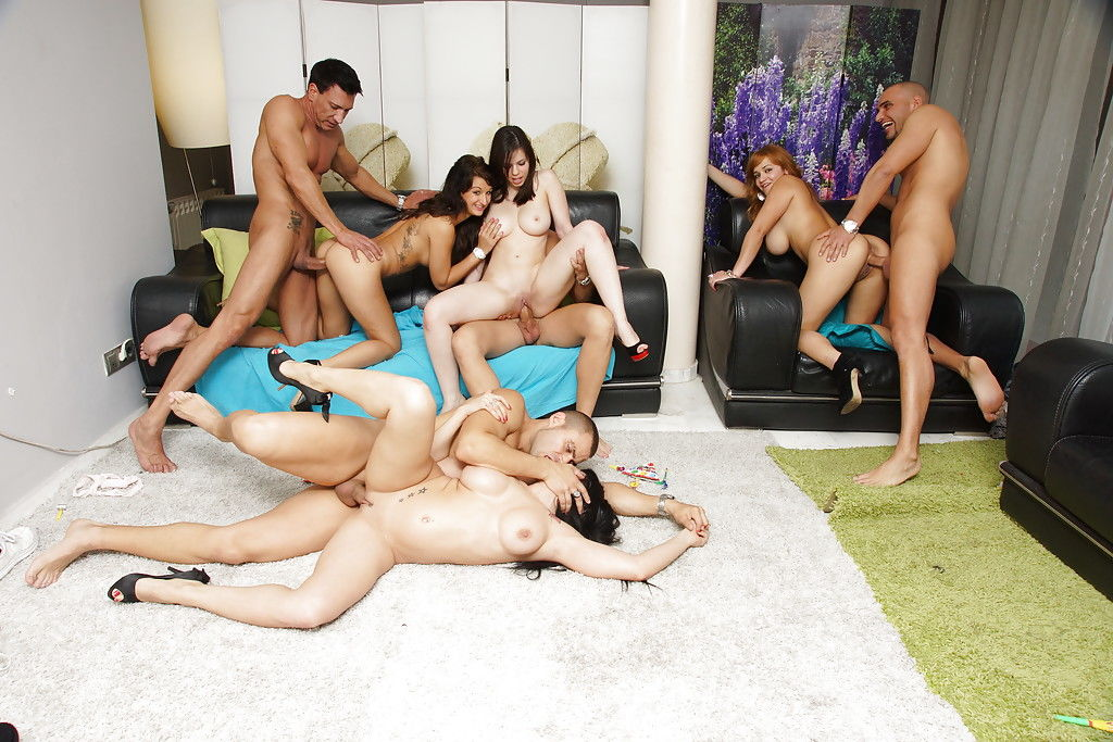 Well-stacked cunts have fun a birthday party turning admires incredible groupsex