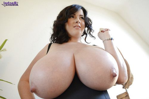 Buxom babe Rachel Aldana exposing massive knockers and long nipps