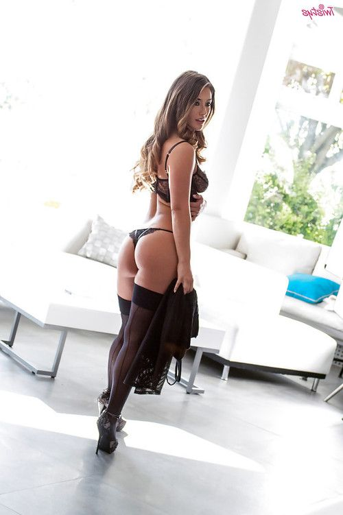 Non nude Asian lass Eva Lovia displaying kewl pornstar a-hole in lingerie