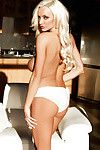 Fairy babe Lindsey has pretty big love melons and posing in her white lingerie