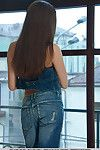 Vanda exudes a sexy rugged chick as this babe seductively poses in front of the livecam while taking off her denim jeans and denim vest, flaunting her adorable physique and gorgeous breasts.