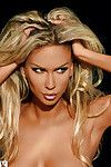 Arousing blonde babe Andrea Jarova showcasing her charming body