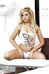 Amazingly lovely blond babe Ashley Zeitler posing in underwear
