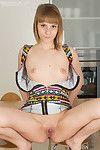 Blonde teen posing nude