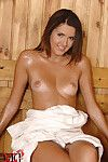 Brunette Masturbates In The Sauna